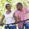 senior couple bicycling small