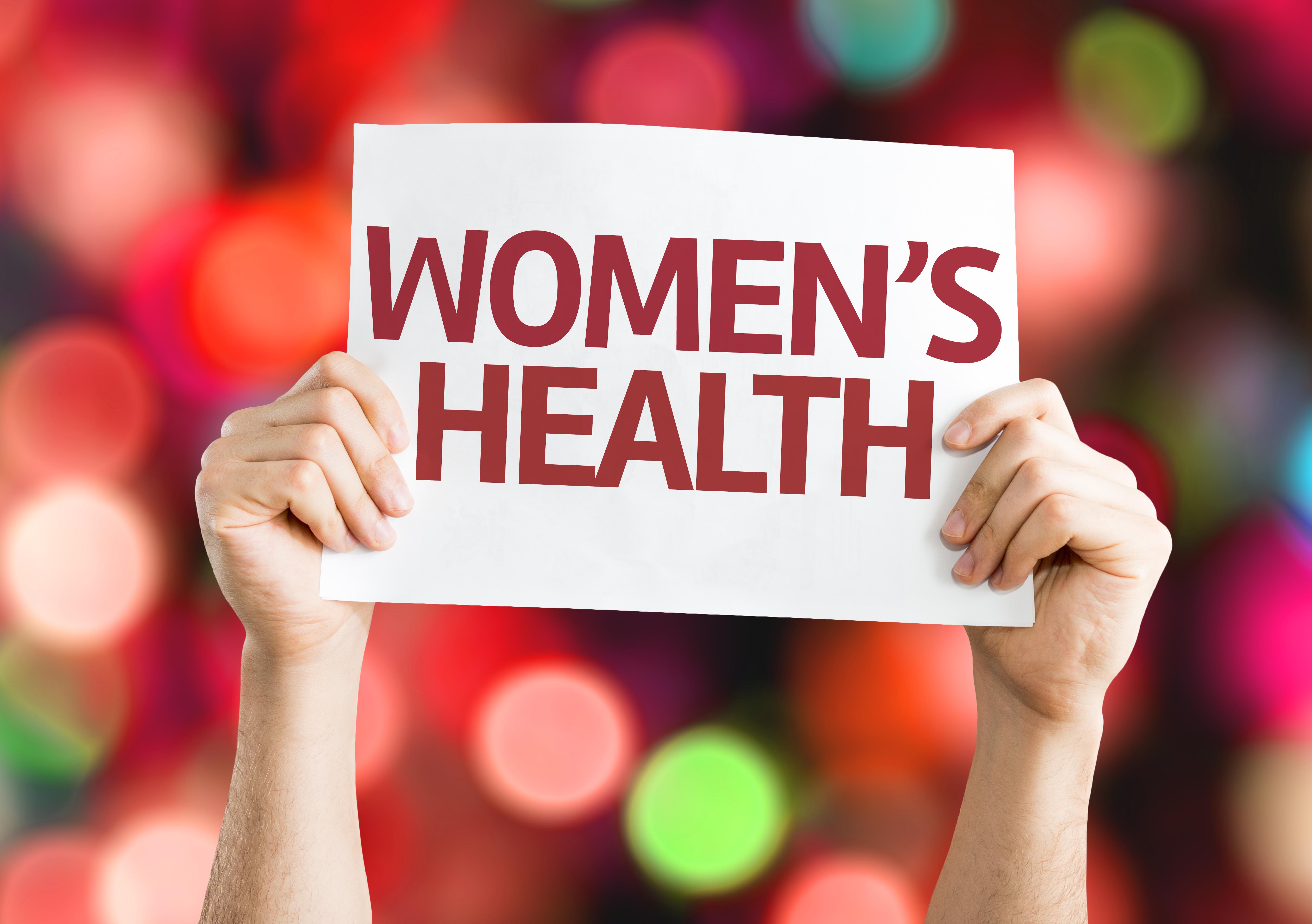 women's health sign