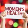 women's health sign small
